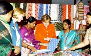 German Chancellor visit to FabIndia